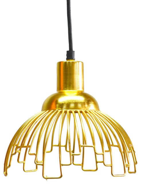 florence showers pendant light gold 9x7 contemporary
