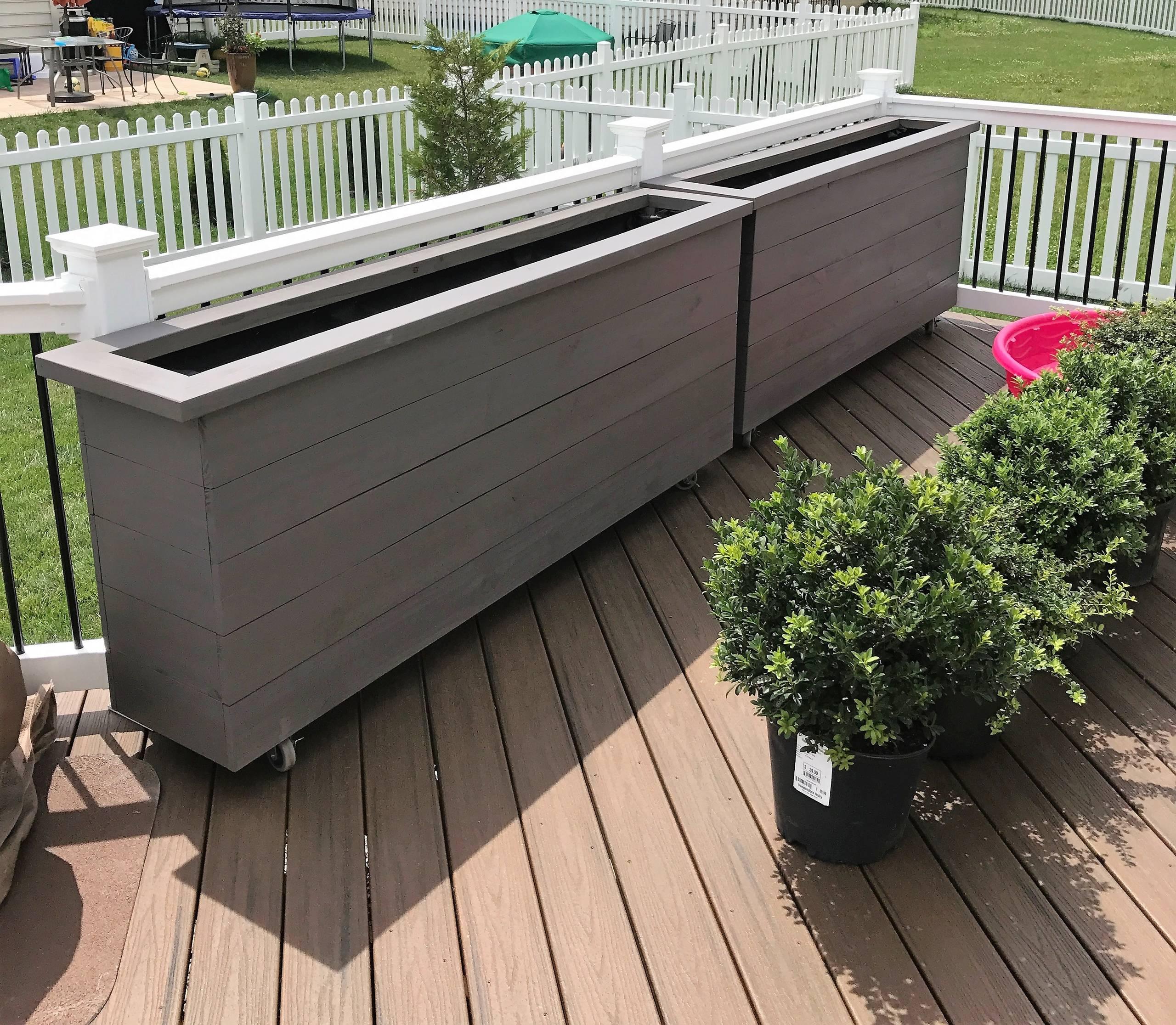 Custom Matching Planter Boxes On Wheels