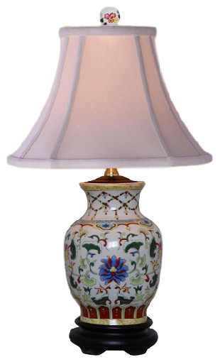 Ashleigh Porcelain Vase Table Lamp.
