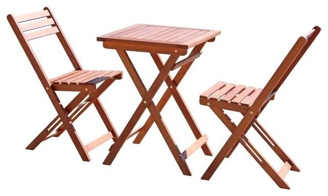 3-Piece Premium Hardwood Bistro Set