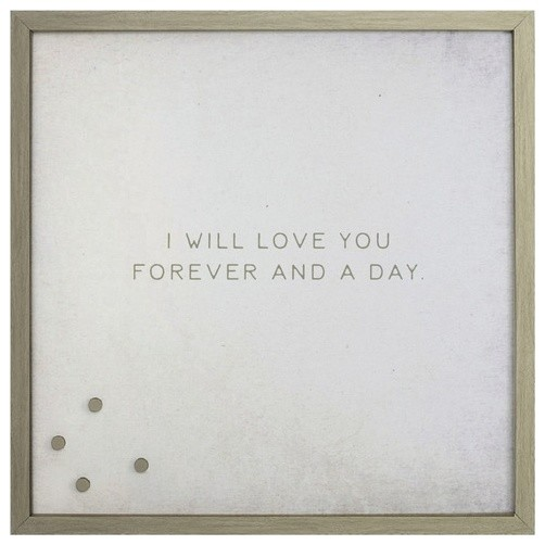 i will love you forever and a day magnetic board silver frame small