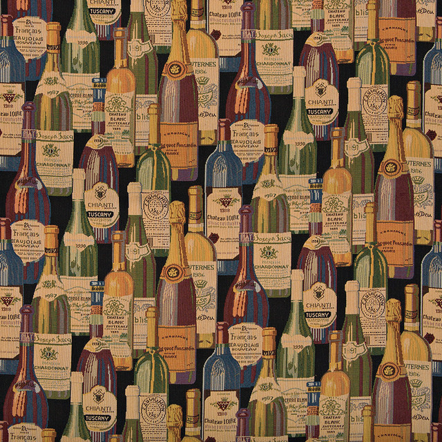 Shop Houzz | Palazzo Fabrics French And Italian Wine Bottles