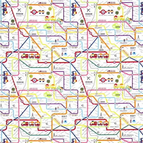 cute subway map children fabric by Kokka Japan kids decor. Add to Ideabook