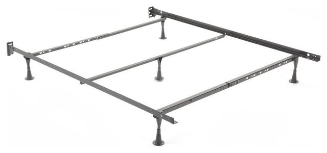 Adjustable Q45g Cross Support Bed Frame, Fixed Headboard Brackets, Full/queen.