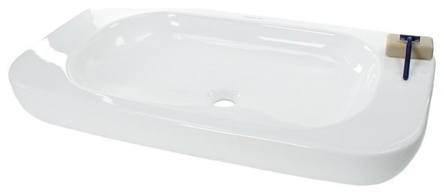rectangular ceramic above counter vessel sink contemporary bathroom sinks by thebathoutlet. Black Bedroom Furniture Sets. Home Design Ideas