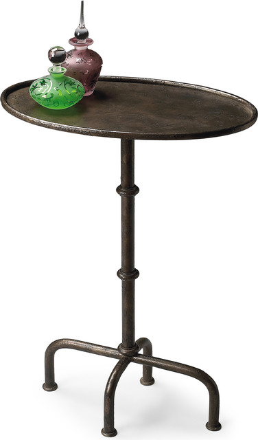 Butler Kira Metal Pedestal Table Industrial Side Tables And End Tables