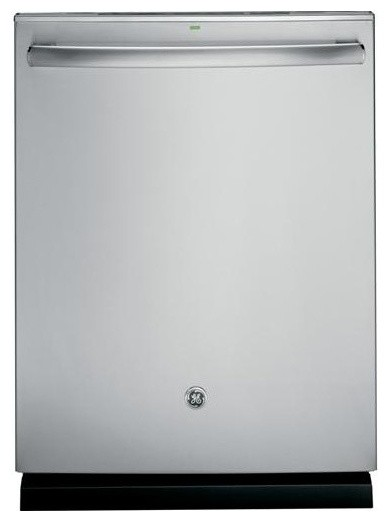 Geprofile Stainless Steel Interior Dishwasher With Hidden Controls Contemporary Dishwashers