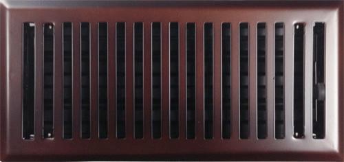 "Oil Rubbed Bronze Contemporary Steel Floor Register, 2""x12""."