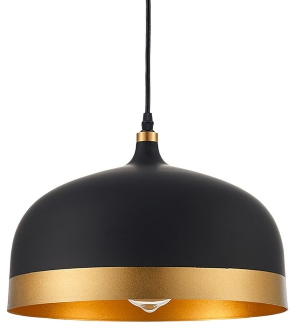 Gold and Black Pendant Light- Lisse Saturn Pendant Lamp Shade