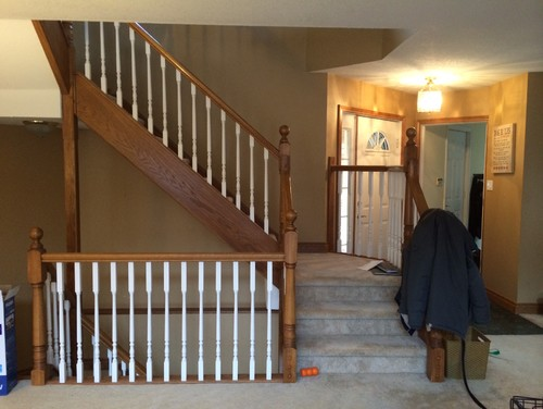 Need Help Updating 1990 39 S Golden Oak Trim And Stair Railing