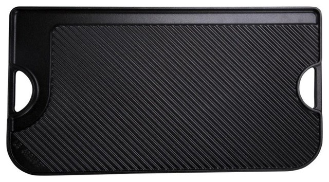 Le Creuset Giant Reversible Grill And Griddle, Black Matte.