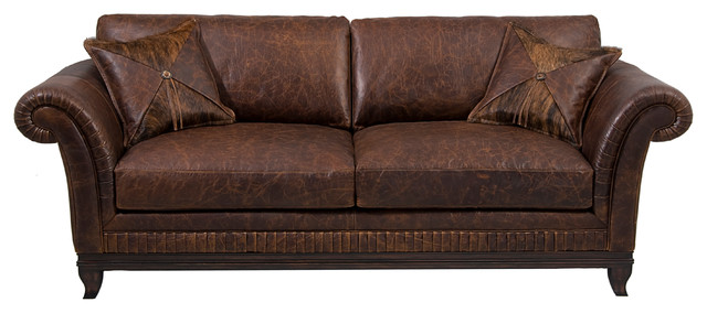 Rustic Top Grain Leather Sofa