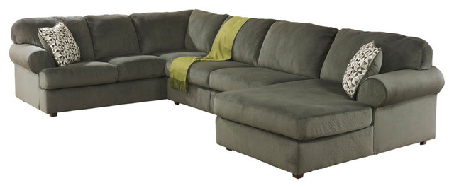 Signature Design By Ashley Jessa Place Sectional, Pewter Fabric.
