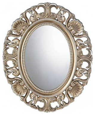 Gilded Oval Wall Mirror.