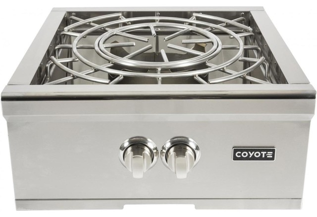 "Coyote 24"" Built-In Power Burner, Propane Gas."