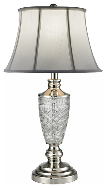 Cornwall 24 Lead Crystal Table Lamp Traditional Table