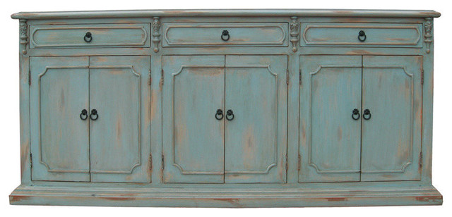 old world sideboard table distressed pale blue sideboards