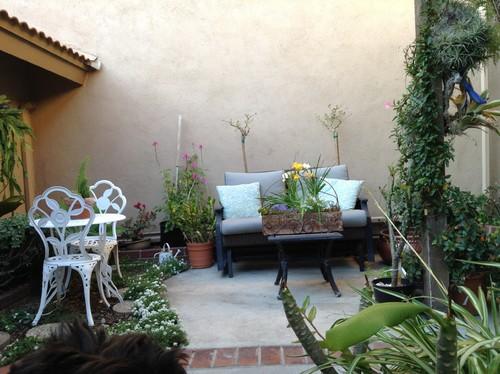 Challenging patio garden space needs ideas