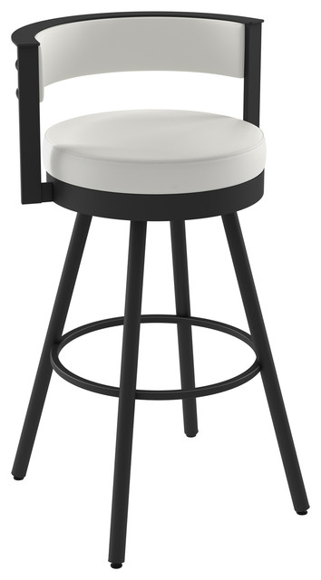 Amisco Eller Swivel Stool Transitional Bar Stools And