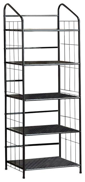 Coaster Metal Bookcase, Black
