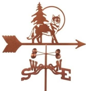 wolf weathervane with deck mount - Weather Vanes