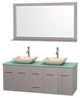 60 Double Bathroom Vanity Set Altair Black Granite Sinks Bathroom Van