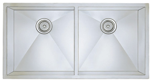 "Blanco 516212 18""x37"" Double Undermount Kitchen Sink, Stainless Steel."