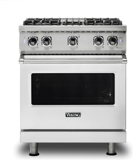 "Viking 30"" Wide Natural Gas Sealed Burner Range, Stainless Steel."