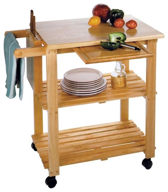 Winsome Wood Mario Beech Transitional Kitchen Cart - 89933