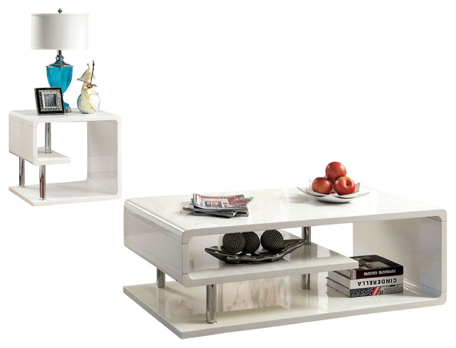 Velva 2-Piece Contemporary Table Set  sc 1 st  Houzz : contemporary coffee table set - pezcame.com