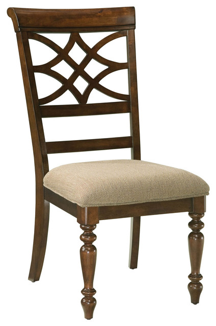 Standard Furniture Woodmont Upholstered Side Chair, Set of 2, Cherry 19184