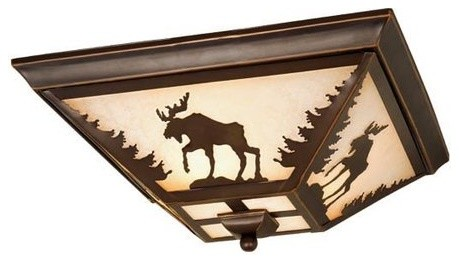 "Yellowstone 14"" Flush Mount Light."