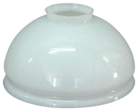 Camellia Opaque White Glass Lampshade