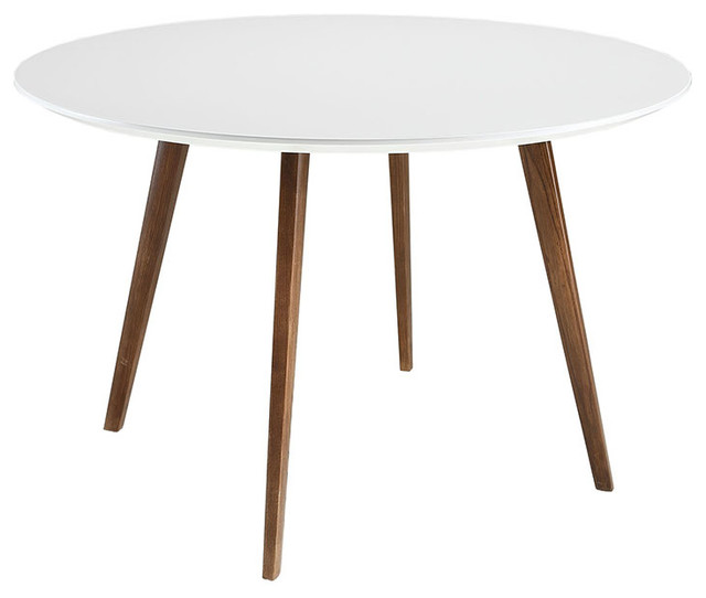 Beau Platter Round Dining Table, White