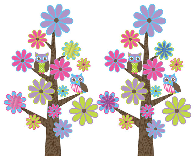 Spot The Owl Wall Decals contemporary-wall-decals