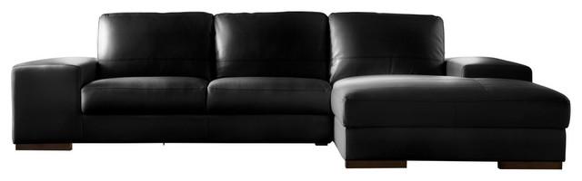 Lazzaro Leather Sus Black 2 Piece Sectional Sofa