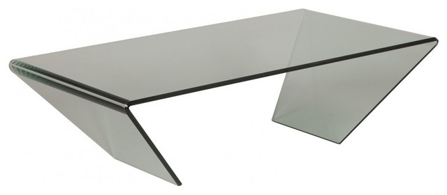 Table Basse Emeraude En Verre Contemporary Coffee Tables By Inside75