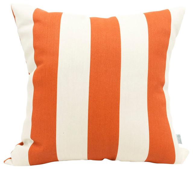 outdoor vertical stripe pillow burnt orange