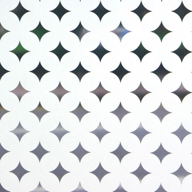 "Peeking Diamonds Window Film, Standard 36""x48""."