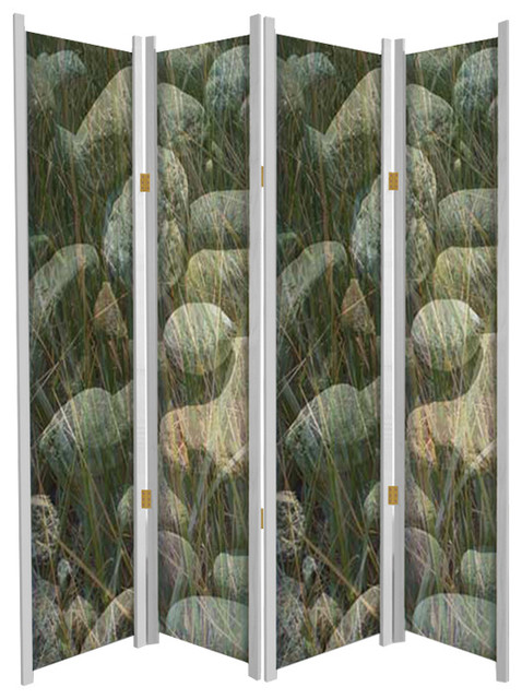 Grass And Stone Nature Theme Folding Partition
