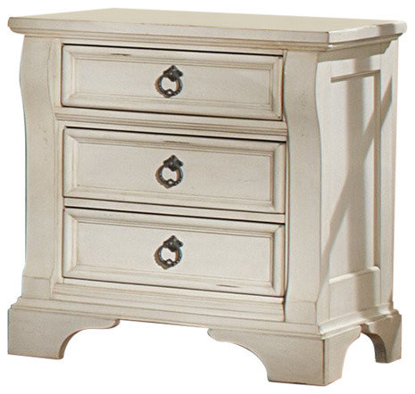 Heirloom Antique White Nightstand.