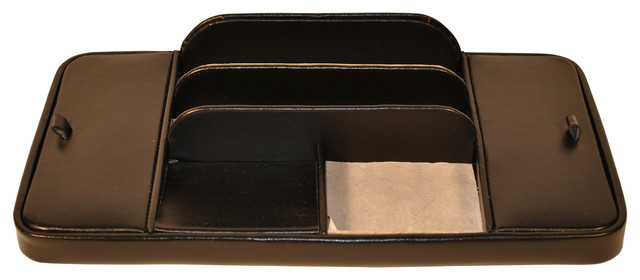 Large Dresser Valet With 2 Covered Sections, Black.