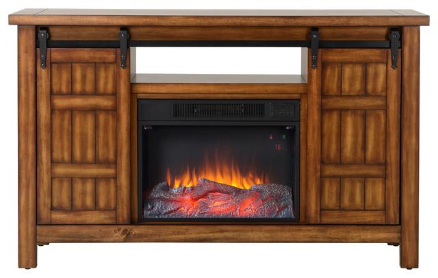 Livingston Media Fireplace, Vintage Cherry.