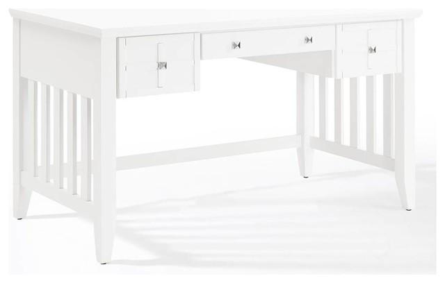 Adler Computer Desk, White Finish.