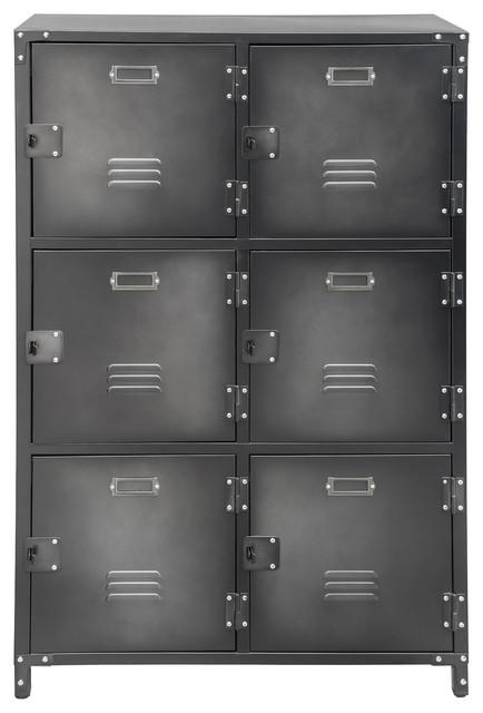 3-Tier Steel Storage Locker - Industrial - Storage Cabinets - by Base Industrial