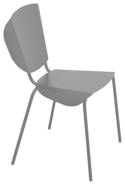 Ankara Dining Chair, Grey, Steel
