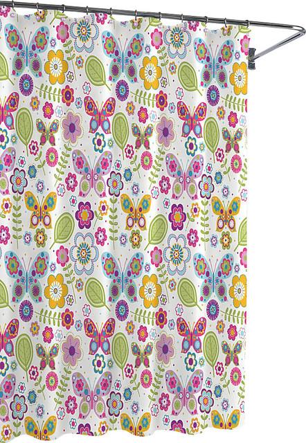 Curtains Ideas butterfly shower curtain : Bambi Butterflies Shower Curtains - Contemporary - Shower Curtains ...