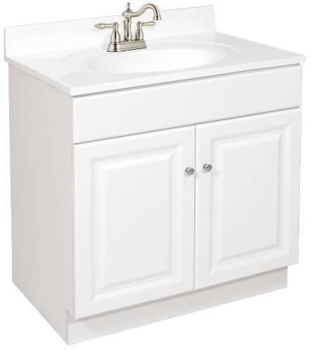30 x 21 White Vanity 2-Door