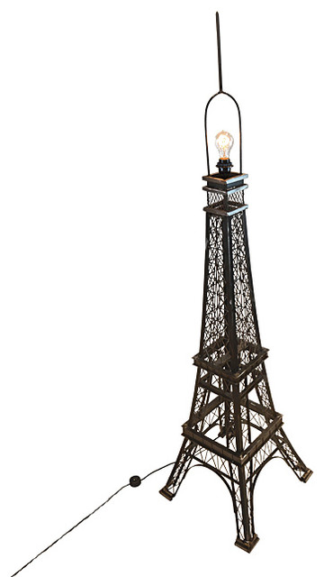 Hope 1-Light Torchiere Polished Nickel Smoky Rock Crystal