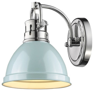 Duncan 1-Light Bathroom Vanity Light, Chrome